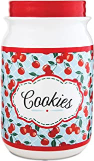 Pavilion Gift Company 49040 You and Me by Jessie Steele Ceramic Cookie Jar, 9-Inch, Kitchen Cherries