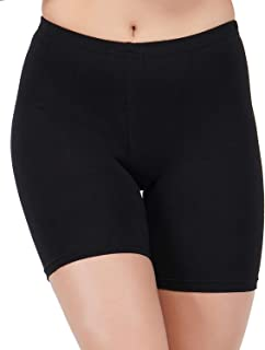 AQUAZZURA Cotton Lycra Black Cycling Shorts for Women's/Ladies/Girls