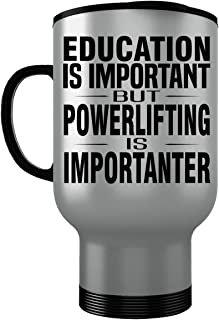 POWERLIFTING Stainless Steel Travel Mug - Good for Gifts - Unique Coffee Cup Car Decal