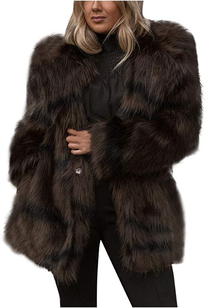Winter Coats for Women Long Now on sale Fur P Faux Sleeve Fluffy Miami Mall