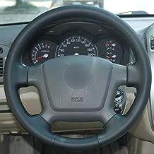LEIDADA Black Leather Car Steering Wheel Cover, for Kia Cerato 2005 2012 Old