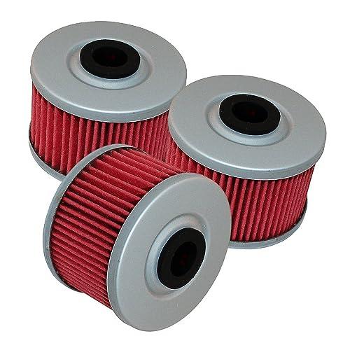 Caltric 3 Pack Oil Filter Fits HONDA XR650L XR-650L XR650R XR-650R XR