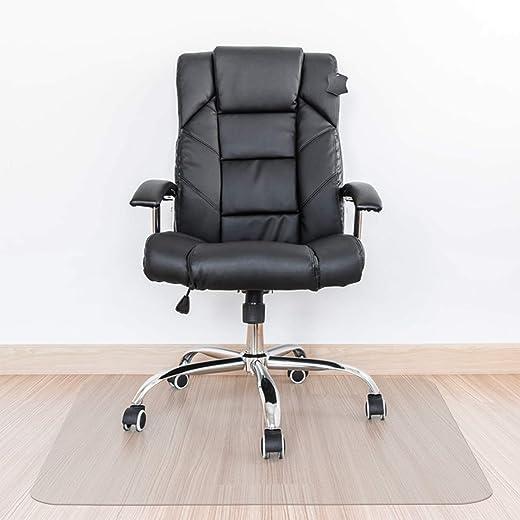 Kuyal Clear Stuhlmatte, Hartbodengebrauch, 76 x 120 cm transparente Office Home Bodenschutzmatte Stuhlmatten (30″x 48″ Rechteck)
