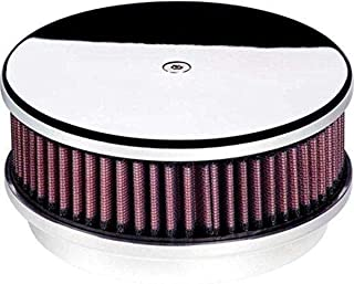 """Air Cleaner, 6 3/8"""" Diameter Round Plain Polished"""