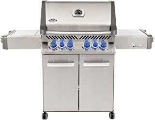 Napoleon P500RSIBPSS-3 Prestige 500 Propane Gas Grill with Infrared Side and Rear Burners, Stainless Steel