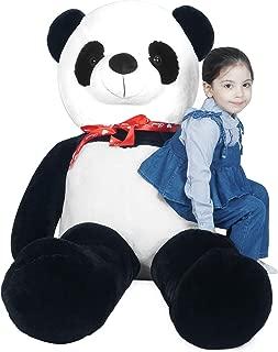 LOVOUS Super Soft Giant Stuffed Animal Panda Bear Plush Toy Gifts Kids, 5.2ft(62