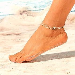 zmnbaa /¡Otra Vez Bohemia De La Moda Pulsera De La Pierna De La Flecha para Las Mujeres Vintage Yoga Beach Tobilleras Estilo del Verano Sandalias Novias Zapatos Descalzo