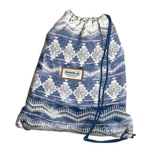 Senfort Ethnic Girls Bolsillo Suelto para Mochila, 43 cm, Azul
