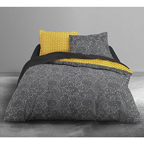 TODAY Enjoy Seurat-Parure HC3 : Housse de Couette 220x240 + 2 Taies d'Oreiller 100% Coton, 57 Fils, Multicolore, 220x240 cm