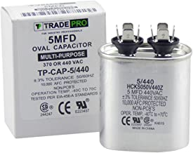 TradePro 5 mfd Oval Capacitor 370/440 Volt Oval Replacement