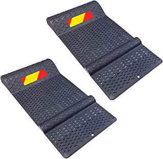 Electriduct Pair of Plastic Parking Mat Guides for Garage Vehicles, Antiskid Car Safety Park Aid - Gray
