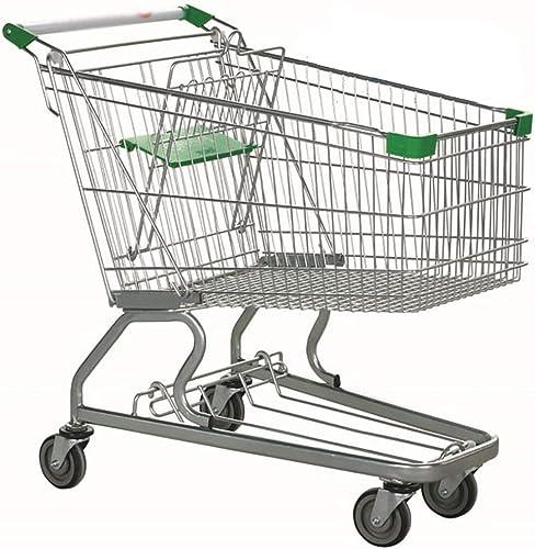 compra en línea hoy JB-Shoutuiche JB-Shoutuiche JB-Shoutuiche Supermercado Carrito De La Compra 60L Carrito De La Compra Carrito KTV Metal Hogar De Ancianos De Doble Capa Carro De La Compra con La Polea  marcas en línea venta barata