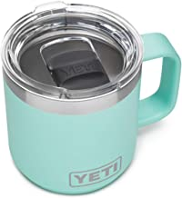 YETI Rambler 10 oz Stackable Mug, Vacuum Insulated, Stainless Steel with MagSlider Lid, Seafoam