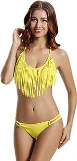 Best neon yellow fringe bikini Reviews
