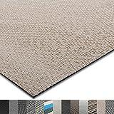 casa pura® Indoor- und Outdoor-Bodenbelag Verona | kunstvoll gewebter Terrassenteppich | als Outdoor Teppich Meterware oder Läufer für innen | 40 Größen (60x100cm)
