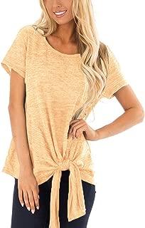 Womens Tops Short Sleeve Strip Color Block Leopard Bacis...