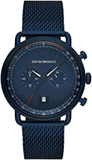 Emporio Armani Men's Chronograph Blue-Tone Stainless Steel Watch AR11289