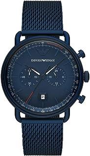 Emporio Armani Men's Chronograph Blue-Tone Stainless Steel Watch AR11289
