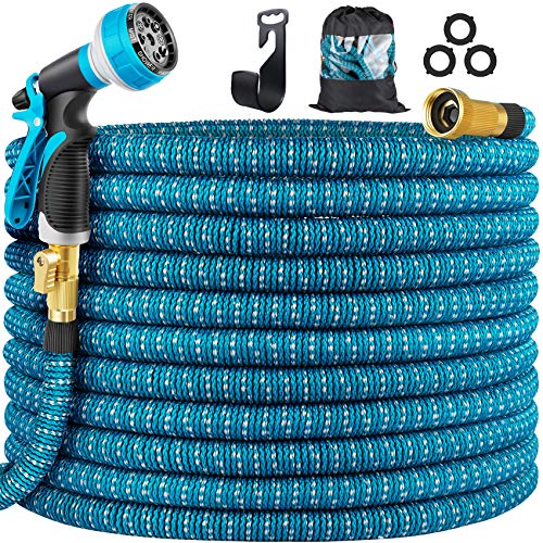 Yuharq 100ft Garden Hose Water Hose, Expandable Hose with Nozzle, Leakproof...