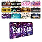"Generic Front License Plates - Custom License Plate for Front Car - Generic License Plates for Front of Car - Car Tags - Customized License Plates - 6""x12"" Metal Plate - Made in USA, Gemstone"