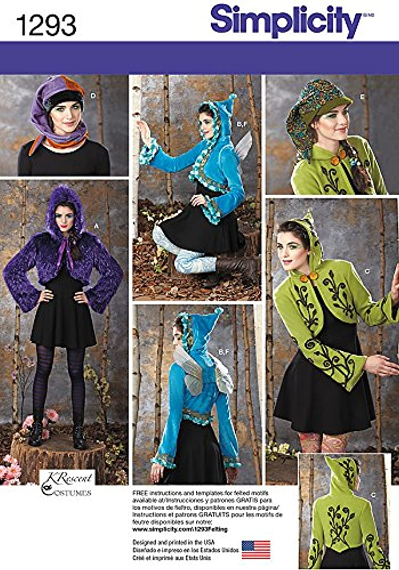 SIMPLICITY US1293HH Misses' Jackets, Wings and Hat Sewing Template