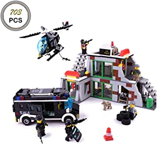 Keefe GUDI Building Blocks City Police SWAT Truck Construction Sets 9414(No Original Box,New in Sealed Bag)