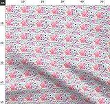 Indy Blütendesign, Neon, Zebra, Decke, Badeanzug Stoffe -
