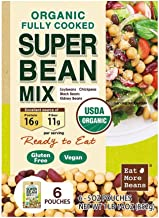 Organic Fully Cooked Super Bean Mix (6-5 oz Pouch) 852 Grams