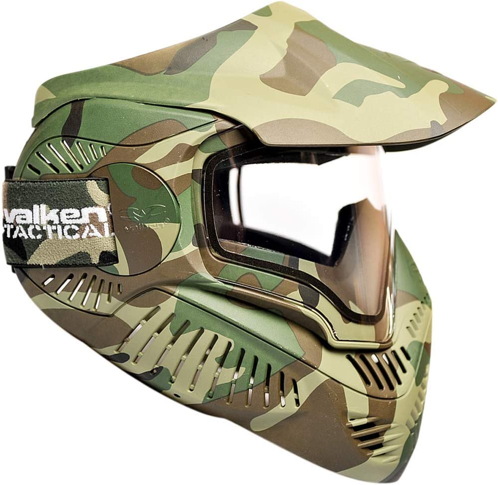 Sly Valken Paintball MI-7 Goggle/Mask with Dual Pane Thermal Lens - Woodland : Sports & Outdoors