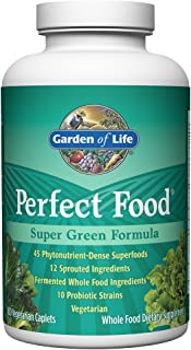 Garden of Life Whole Food Vegetable Supplement - Perfect Food Green Superfood Dietary Supplement, 300 Vegetarian Caplets