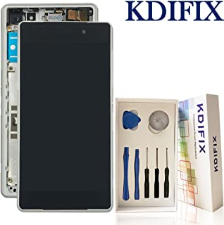 KDIFIX for Sony Xperia Z2 L50W D6503 D6502 D6543 LCD Touch Screen Assembly + Frame with Full Professional Repair Tools kit (White+Frame)