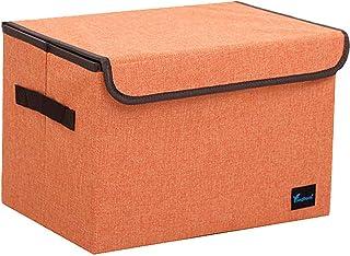 WESDOO Boite de Rangement Tissu bac Rangement Cube boîtes de Rangement Boîte de Rangement des vêtements Cubes de Rangement...