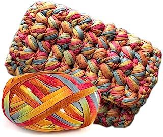 Art-Yarn,T-Shirt Yarn,Crochet Rug Yarn,Fabric Knitting Yarn,DIY Chunky Yarn,Spaghetti..