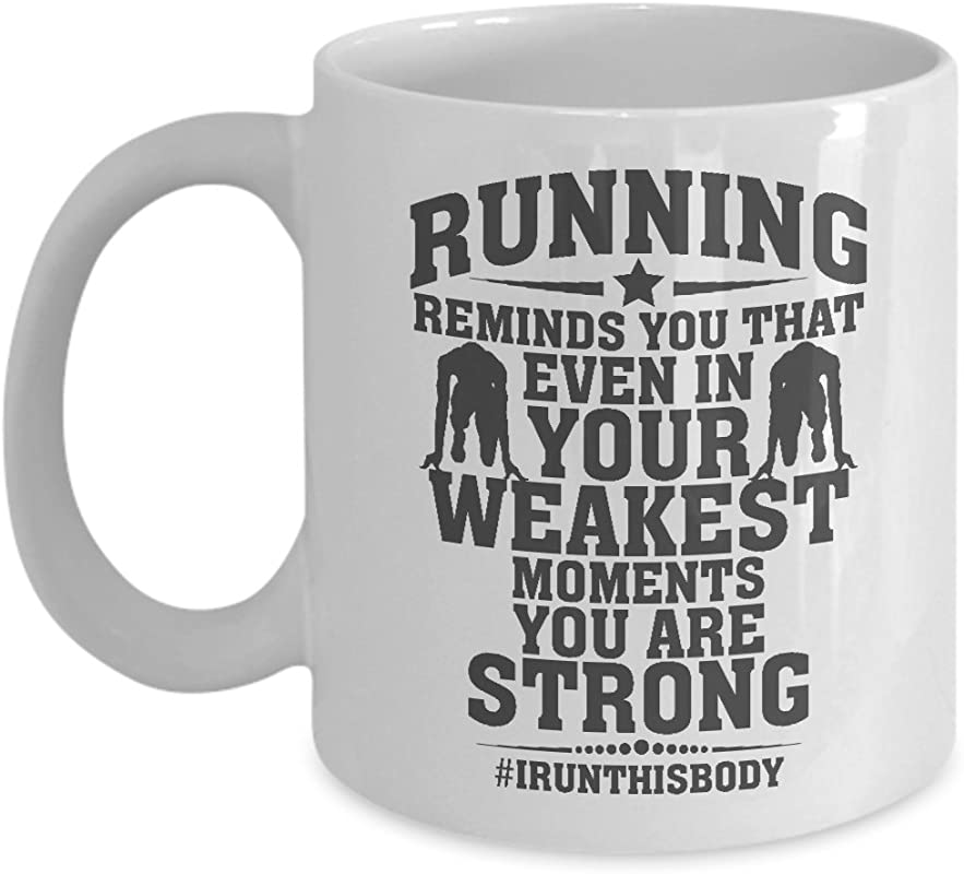 Running Reminds You Quote Coffee Tea Gift Mug For A Long Distance Marathon Runner