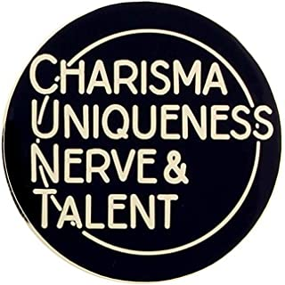 Charisma Uniqueness Nerve & Talent RuPaul Lapel Pin Badge