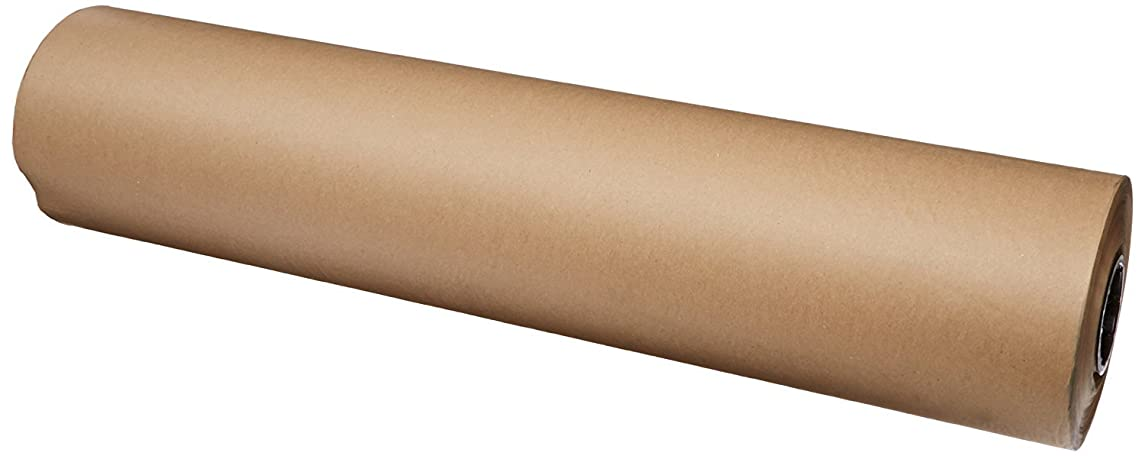 """Brown Kraft Paper Roll 36"""" x 200 ft (2400 inches) Single Roll, Proudly Made in The USA 100% Recycled Material, for Table Cover, Gift Wrapping, Moving Paper, Packing, Postal, Shipping."""