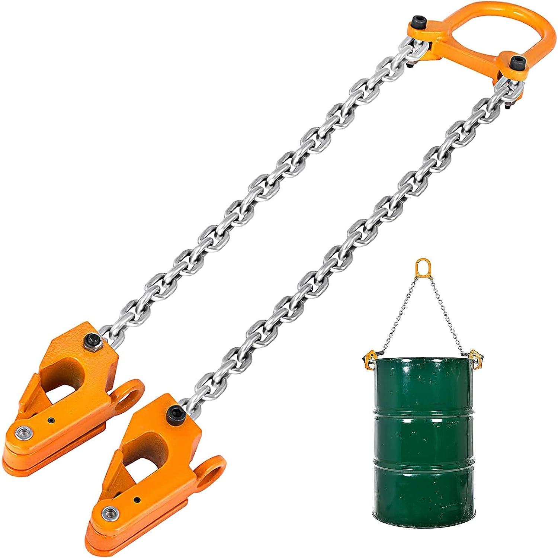 RUTILY Chain Fees free Drum Max 85% OFF Lifter 2000 Barrel Load Sl LBS Capacity