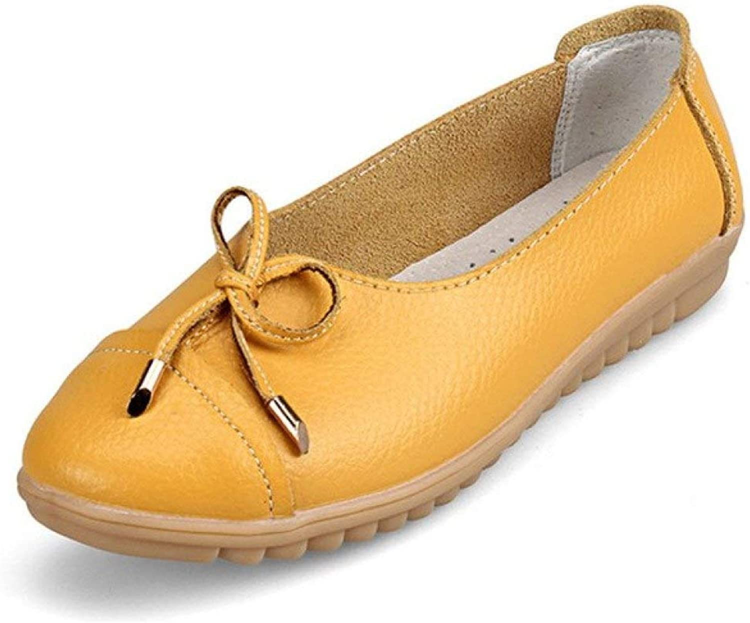Women's Bowknot Pointed Toe Loafer shoes Slip On Casual Driving Moccasins Flats