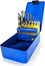 S&R Bohrer-Set 23-tlg: 6 Holzbohrer, 10 Metallbohrer HSS M2 steel, 7 Betonbohrer/Steinbohrer in Metallbox
