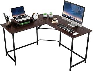 DOMY HOME パソコンデスク L字デスク オフィスデスク PCデスク デスク L字型 ワークデスク シンプルデスク L字型コーナーデスク 在宅勤務 テレワーク(ウォルナット)
