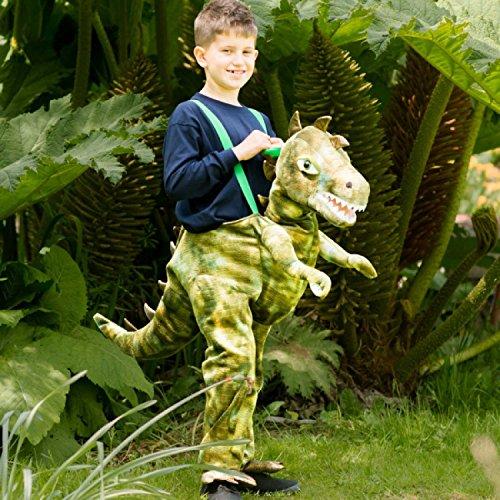 Generique - Dinosaurier Huckepack-Kostüm für Kinder Karneval grün 104 (3-4 Jahre)