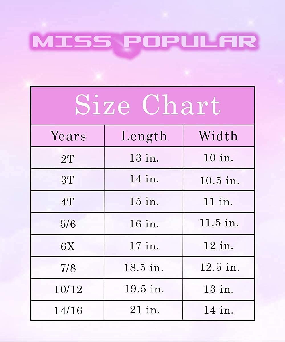 MISS POPULAR Girls 2 Pack Short Sleeve Basic Tees  Shirts Great for Printing Sizes 4-16
