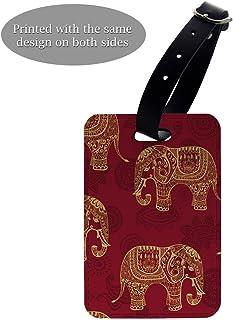 Unicorn collage motif Luggage Tag /&//ou Porte-passeport-S519