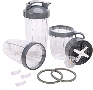 13 Pack Blender 32/24/18OZ Cups Containers & Extractor Blade Replacement Parts Kit - Compatible with Nutribullet Mixer 600...