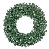 """Vickerman C164839 Fir Double Door Wreath in Halves with 186 PVC tips, 36"""", Oregon"""