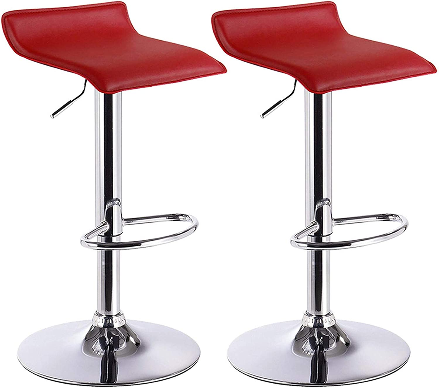 Very popular It is very popular MENGQIN 2 Bar Stools Counter Adjustable Leather Heig