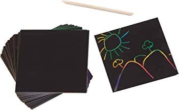 Melissa & Doug Scratch Art Box of Rainbow Mini Notes (Arts & Crafts, Wooden Stylus, 125 Count, Great Gift for Girls and Boys - Best for 4, 5, 6 Year Olds and Up)