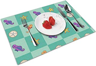 chang jin you Placemats Set of 4,Bonaire Baby Blocks Heat-Resistant Placemats Washable Table Mats for Kitchen Dining Table