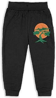 Easionerol Japanese Bonsai Tree Boys Long Sweatpants Jogger Trousers