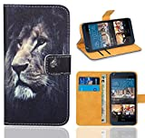 FoneExpert® HTC Desire 626 626G Handy Tasche, Wallet Hülle Flip Cover Hüllen Etui Ledertasche Lederhülle Premium Schutzhülle für HTC Desire 626 626G (Pattern 4)